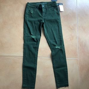Dark Green Jeans from Articles of Society